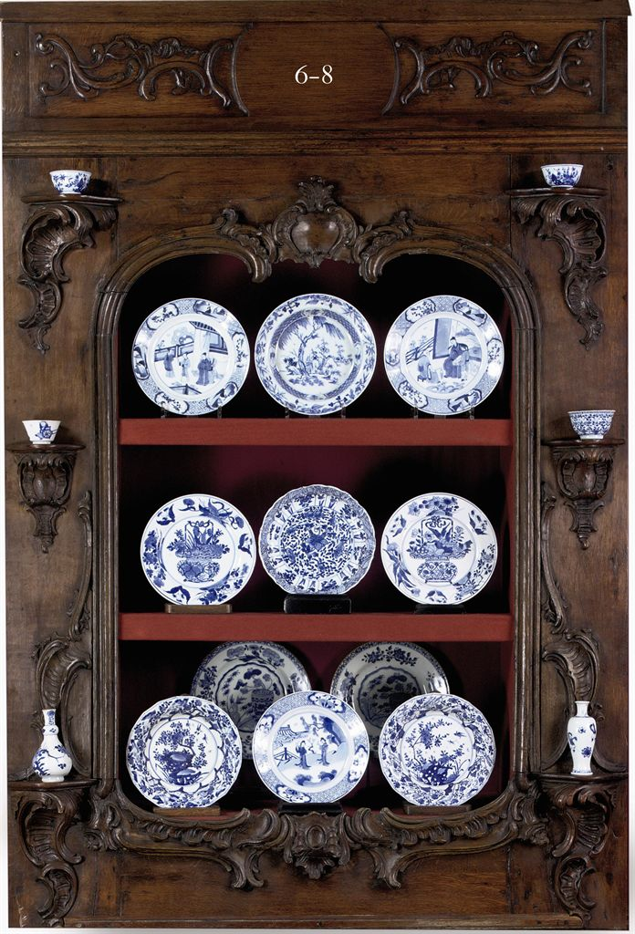 An assorted group of Chinese blue and white plates