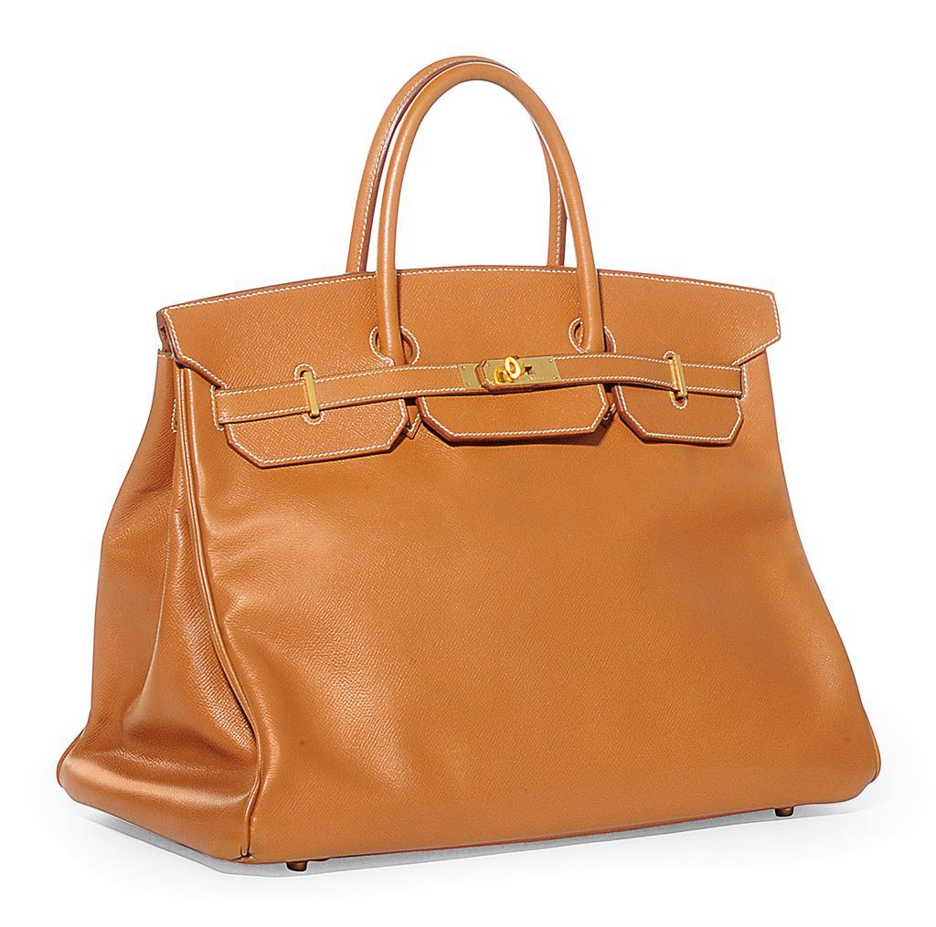 A GOLD COURCHEVAL 'BIRKIN' BAG