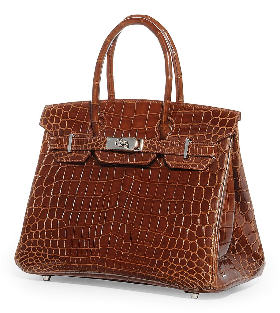 A MIEL CROCODILE 'BIRKIN' BAG