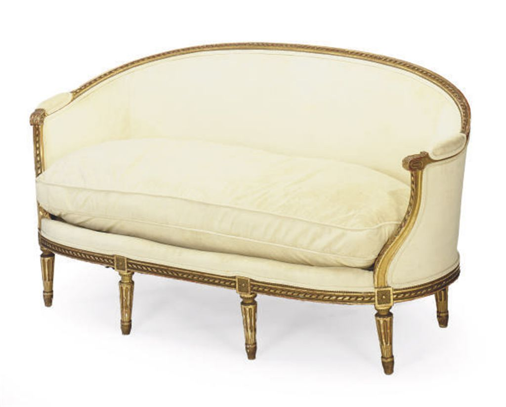 A french giltwood canape 20th century christie 39 s for Canape in english