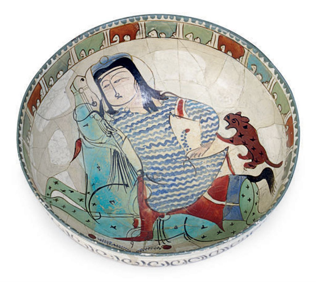 A 'MINAI' POTTERY BOWL,