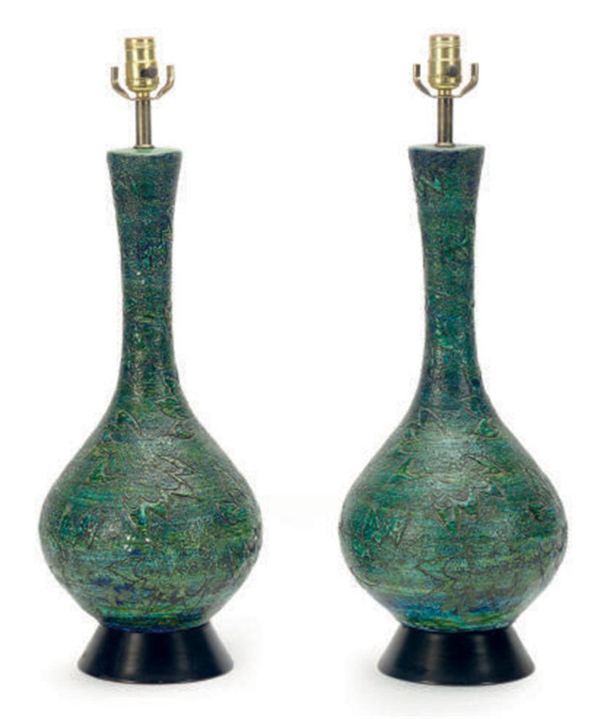 Modern Ceramic Table Lamps: Lot 768,Lighting