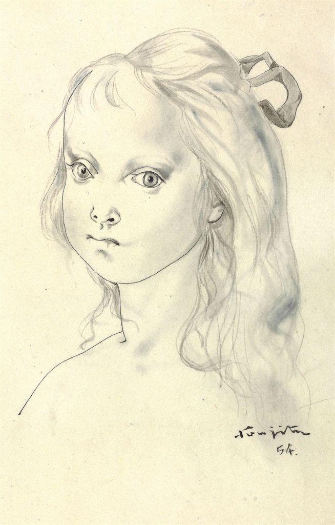 Leonard Tsuguharu Foujita (18861968) , Tête de jeune