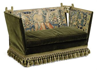 A SMALL KNOLE SOFA