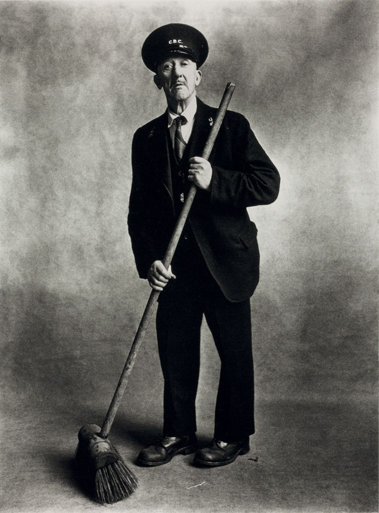 IRVING PENN (1917-2009) , Road Sweeper, London, 1950 ...