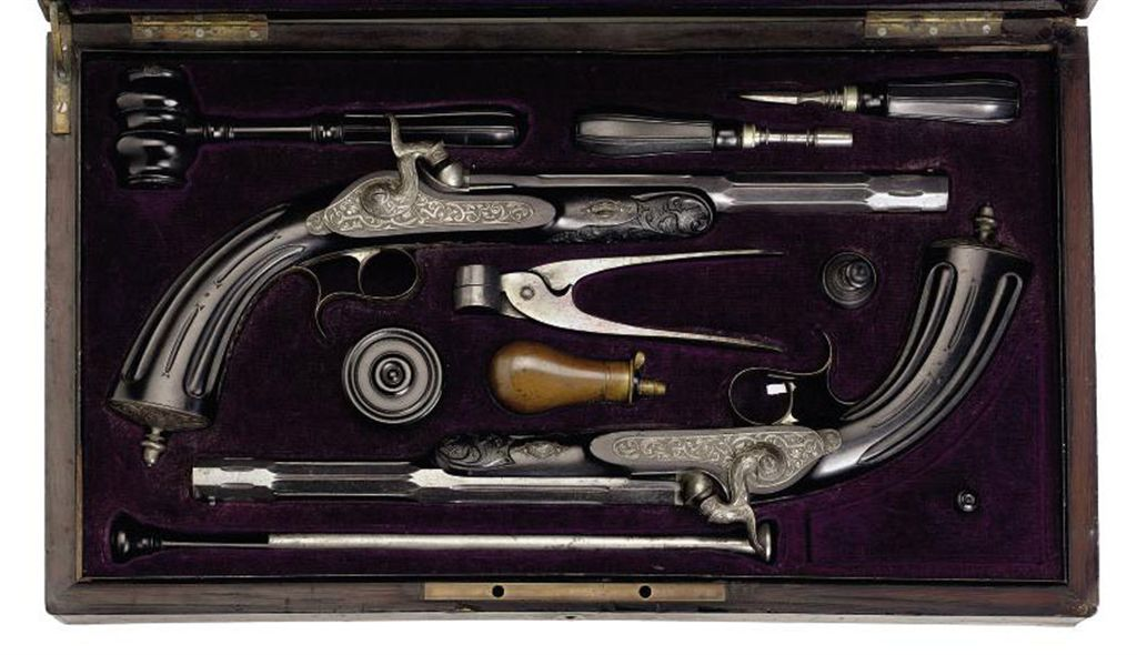 A FINE CASED PAIR OF BELGIAN 40-BORE PERCUSSION TARGET PISTO...