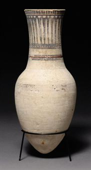 AN EGYPTIAN PAINTED POTTERY JAR | NEW KINGDOM, DYNASTY XVIII ...