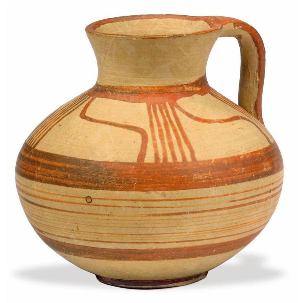 A MYCENAEAN POTTERY JUG CIRCA 14TH 12TH CENTURY BC