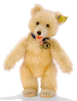 a steiff post war teddy baby 2322 00 maize mohair brown and black glass eyes shorter. Black Bedroom Furniture Sets. Home Design Ideas