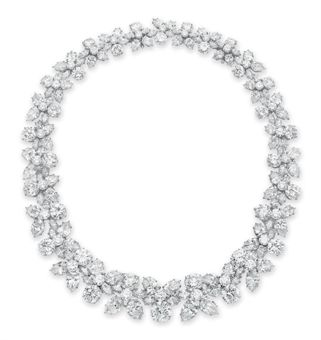 A DIAMOND HOLLY WREATH NECKLACE, BY HARRY WINSTON