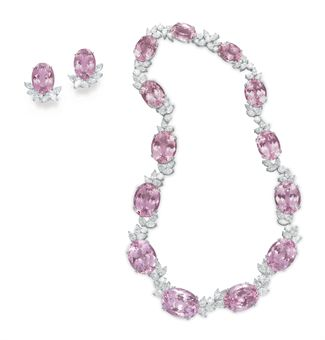 Lotfinder Jewelry A Suite Of Kunzite And Diamond Jewelry 5363382 Details Tiffany & Co Jewelry