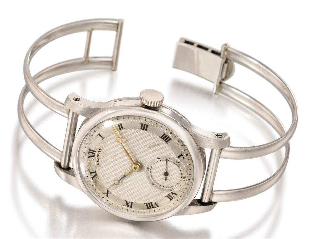 Breguet An extremely fine and rare platinum wristwatch with ...