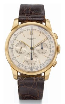 Audemars Piguet. A very fine, large and rare 18K gold chronograph wristwatch