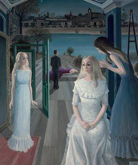 Art history news paul delvaux at auction for Paul delvaux le miroir