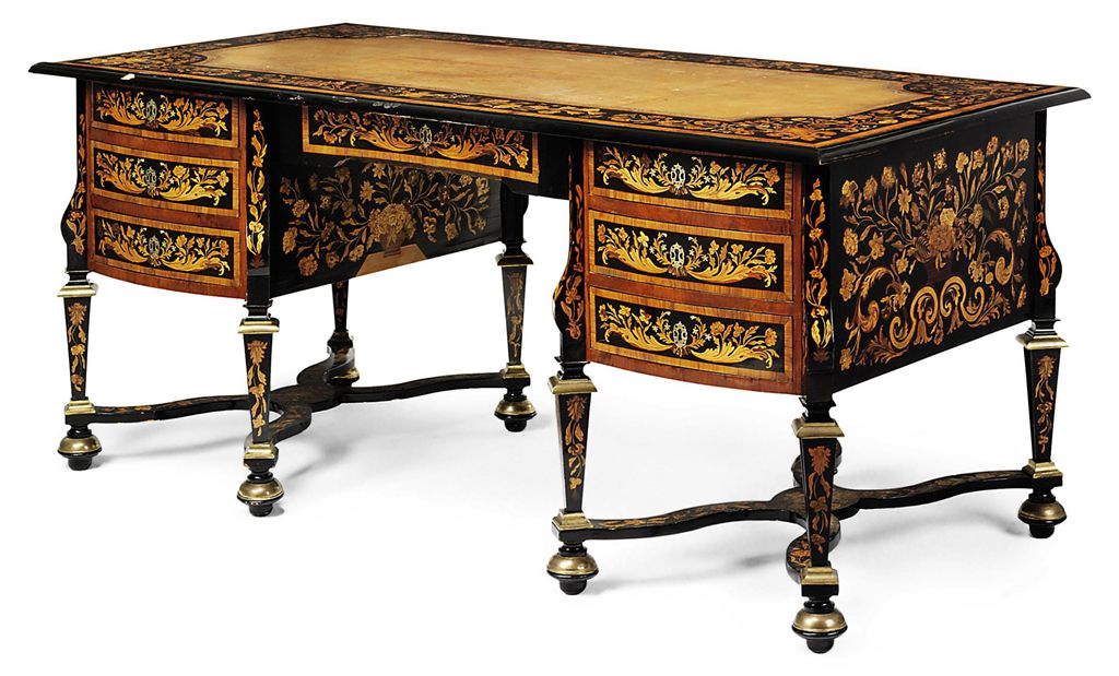 a louis xiv ormolu mounted fruitwood floral marquetry. Black Bedroom Furniture Sets. Home Design Ideas