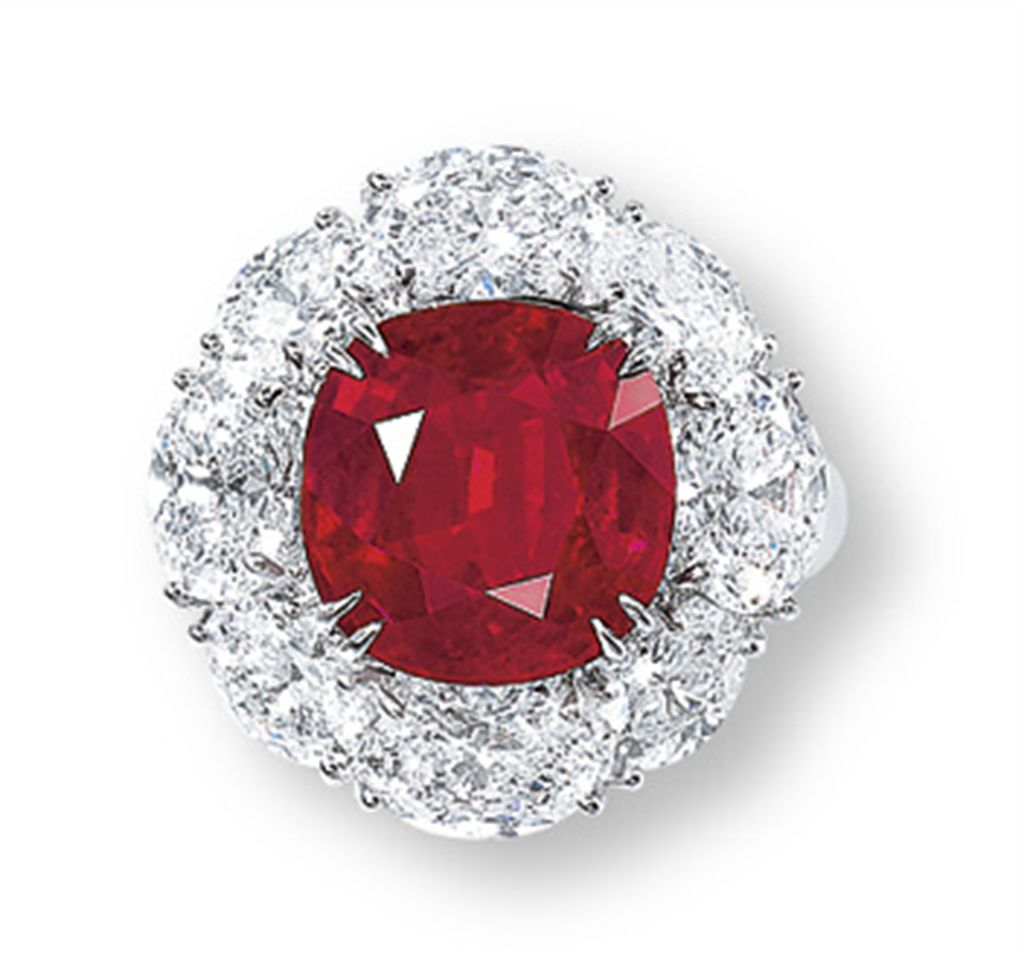 A RARE RUBY AND DIAMOND RING