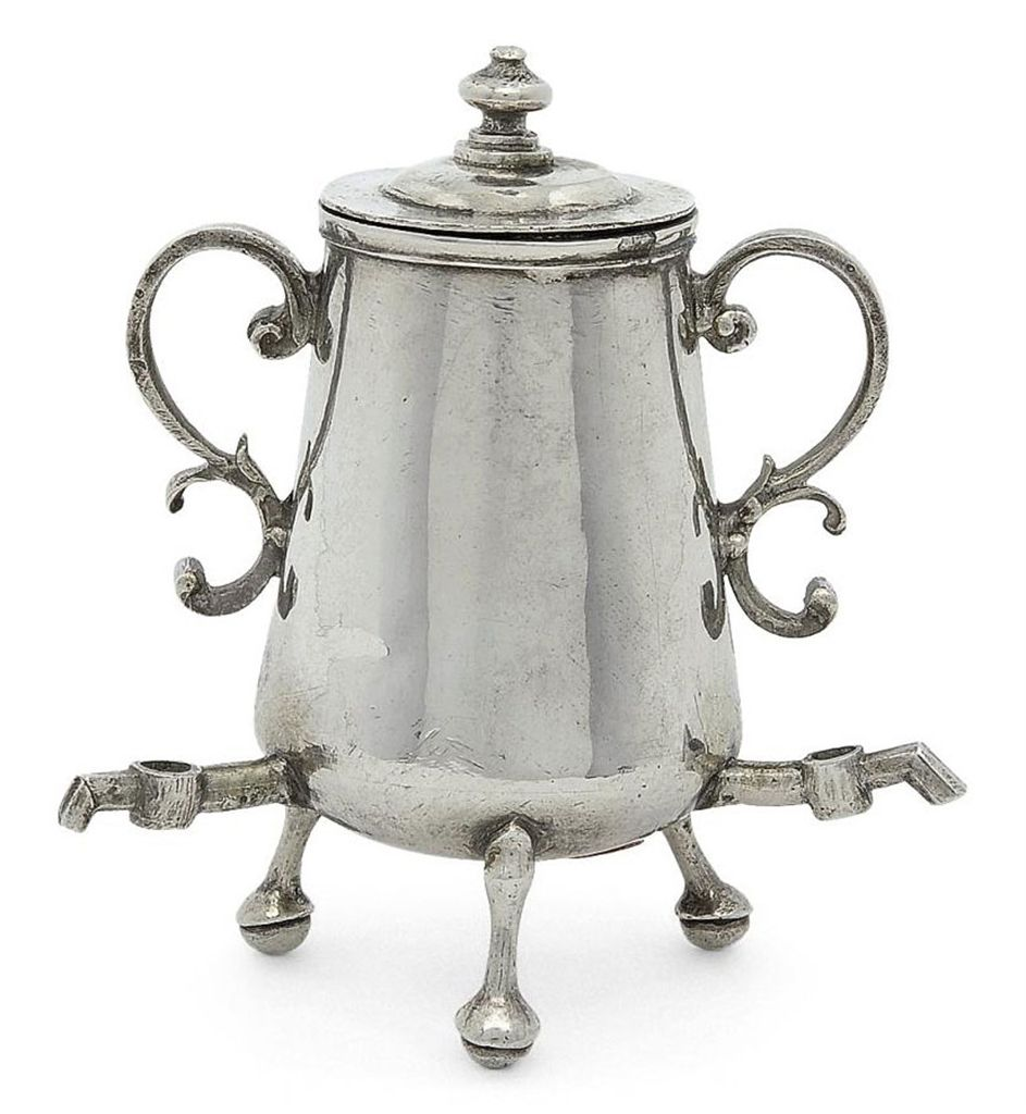 European Glass Coffee Maker : A DUTCH SILVER MINIATURE TOY COFFEE-URN , MAKER S MARK INDISTINCT, EARLY 18TH CENTURY Christie s