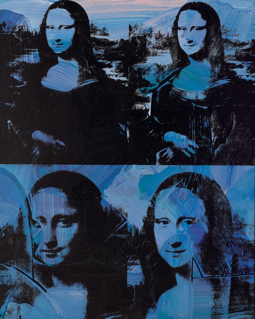 andy warhol 1928 1987 mona lisa 20th century paintings lot 60