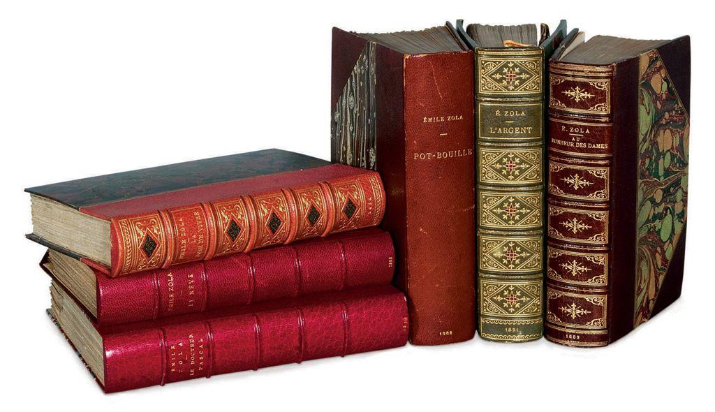 ZOLA, Émile (1840-1902) Belle réunion de 6 ouvrages des Roug...