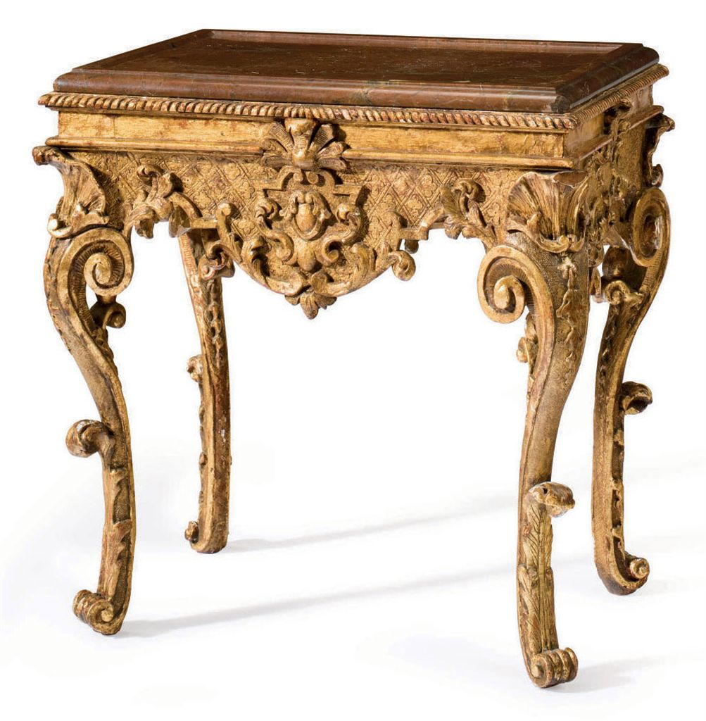 A SOUTH GERMAN GILTWOOD CENTER