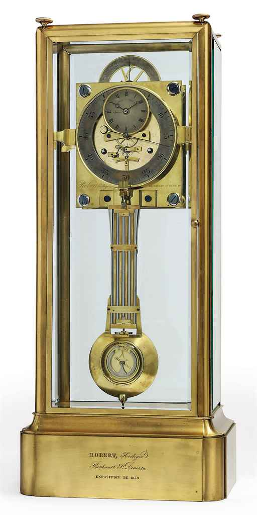 A LOUIS PHILIPPE TABLE REGULATOR WITH CHRONOMETER ESCAPEMENT...