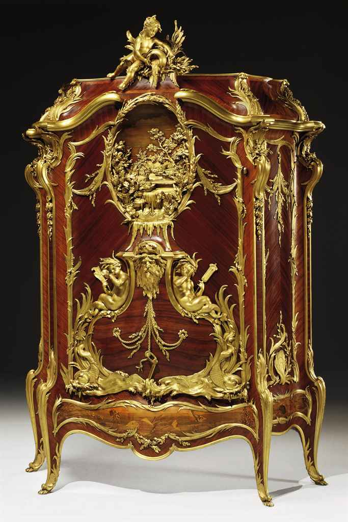 'BAHUT MARINE': A HIGHLY IMPORTANT FRENCH ORMOLU-MOUNTED KIN...