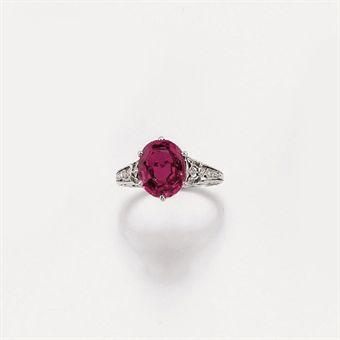anello con rubino firmato tiffany co jewelry auction