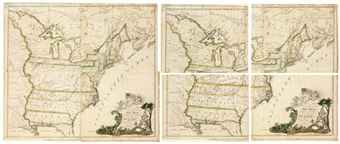 BUELL, Abel (1742-1822). A New and Correct Map of the United States of North America Layd Down from the Latest Observations and Best Authorities Agreeable to the Peace of 1783. Humbly Inscribed to his Excellency the Governor and Company of the State of Connecticut By their Most Obedient and Very Humble Servant Abel Buell. New Haven: Abel Buell, 1784.