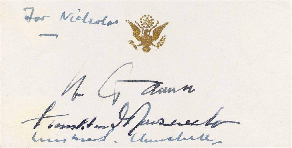 CHURCHILL, Winston S; ROOSEVELT, Franklin D; STALIN, Josef A...
