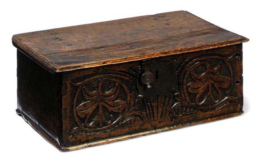 A CHARLES II OAK BOX