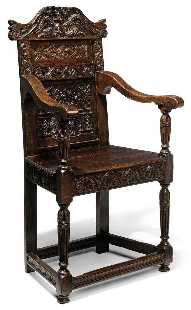 An Elizabethan Oak Armchair Late 16th Century Christie S