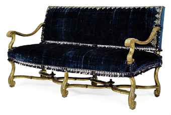 A LOUIS XIV GILTWOOD CANAPE