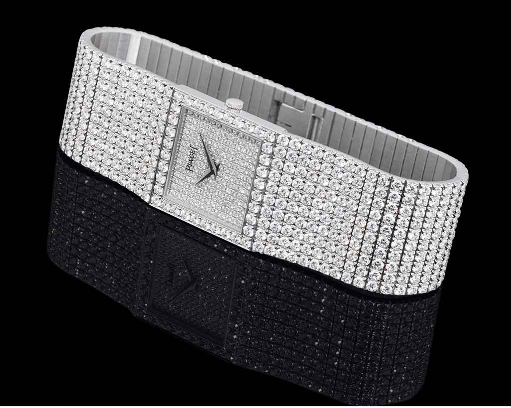 PIAGET FINE AND RARE WHITE GOLD AND DIAMOND-SET MANUALLY-...