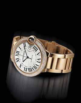 Cartier Ballon Bleu Gold Diamonds