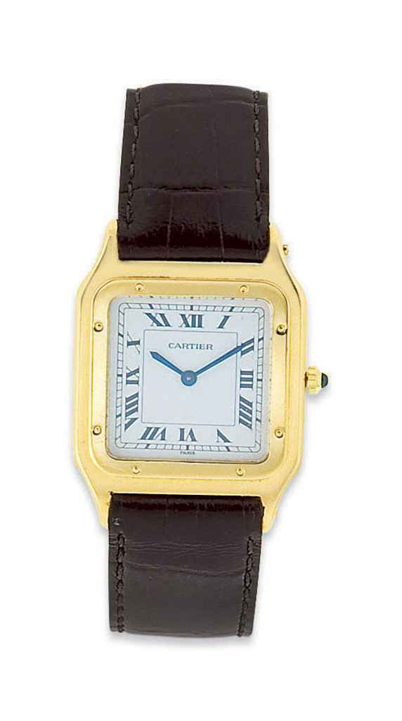 montre bracelet d 39 homme santos dumont en or par cartier christie 39 s. Black Bedroom Furniture Sets. Home Design Ideas