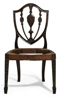 THE ELIAS HASKET DERBY FEDERAL CARVED MAHOGANY SIDE CHAIR