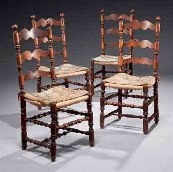 Suite de quatre chaises de style baroque - Chaise baroque transparente ...