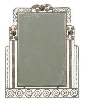 AN ART DECO WROUGHT-IRON MIRROR, | SECON QUARTER 20TH CENTURY ...
