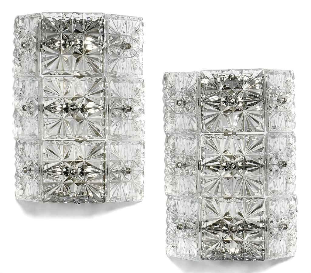 Cut Glass Wall Lights : EIGHT CUT-GLASS WALL LIGHTS , MID-20TH CENTURY Christie s