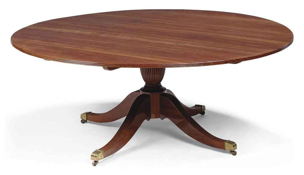A LARGE MAHOGANY CIRCULAR DINING TABLE OF REGENCY STYLE  : alargemahoganycirculardiningtableofregencystylesecondhalf20d5415354g from www.christies.com size 1024 x 590 jpeg 26kB