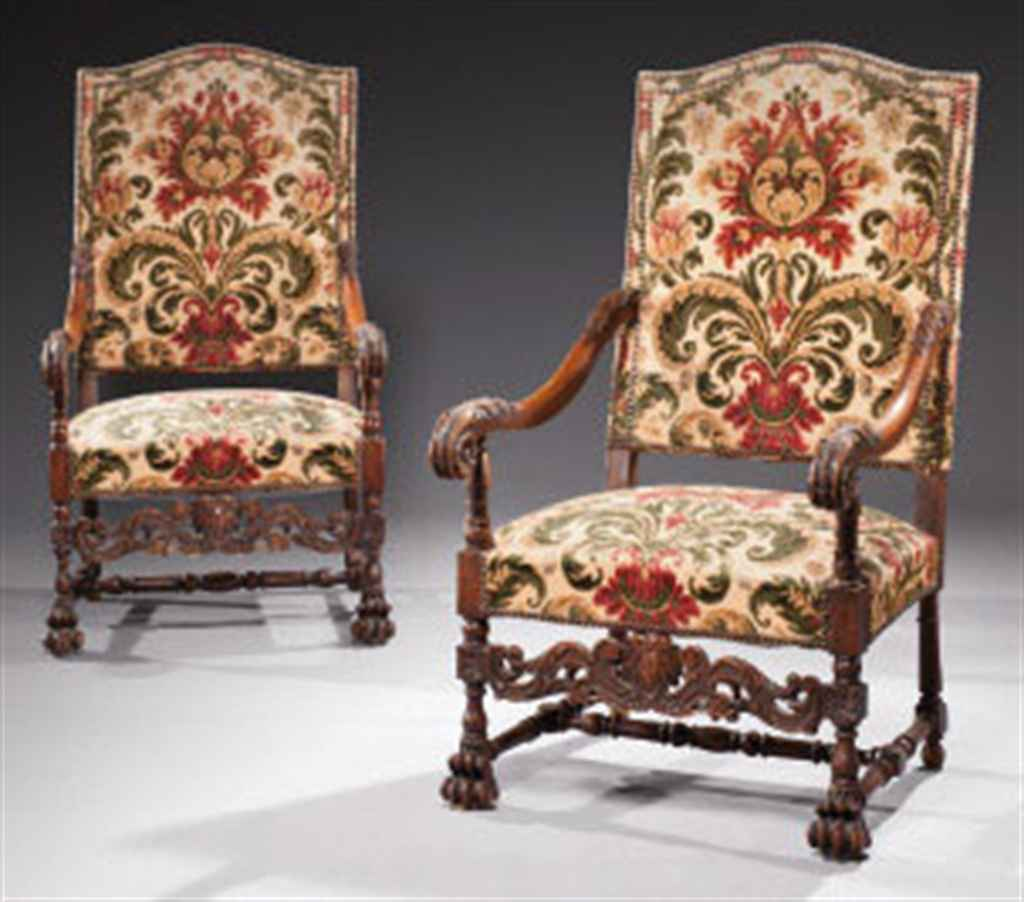 paire de fauteuils de style louis xiv xix me si cle christie 39 s. Black Bedroom Furniture Sets. Home Design Ideas
