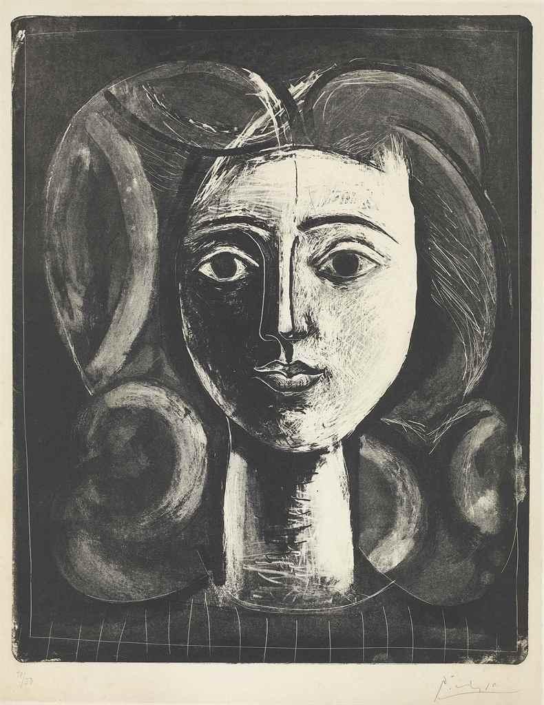Pablo Picasso , Tête de Jeune Fille (B 423; M68