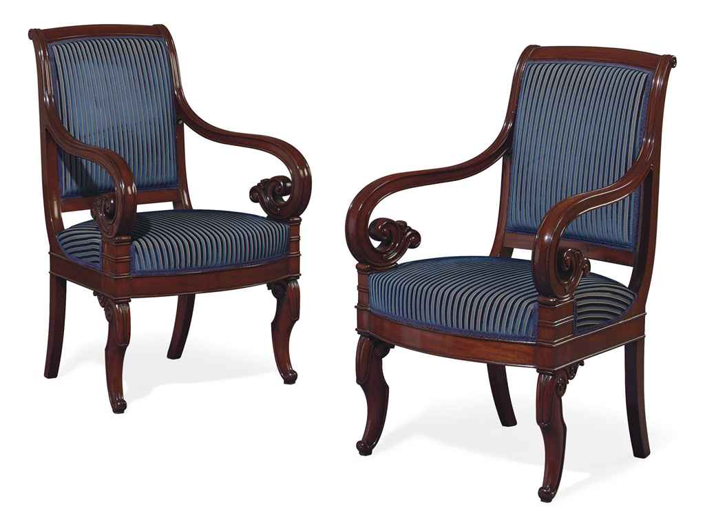 a pair of louis philippe mahogany fauteuils by jeanselme circa 1840 christie s