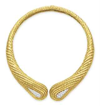 A DIAMOND AND GOLD NECKLACE, BY DAVID WEBB