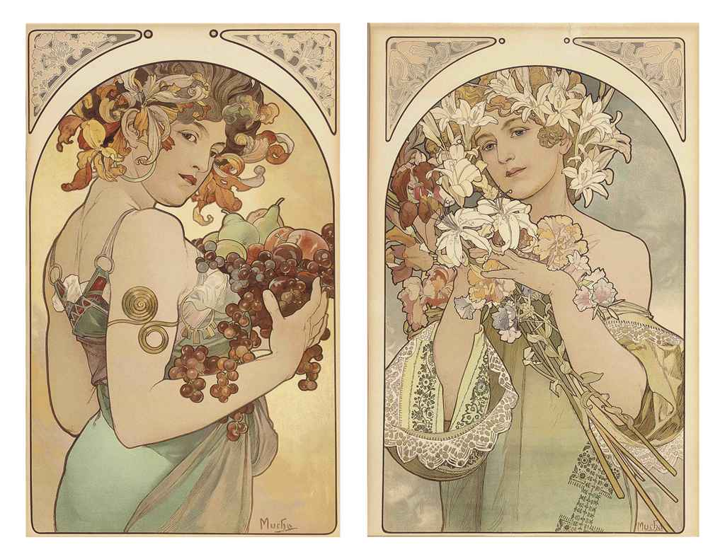 The gallery for --> Alphonse Mucha Flowers