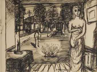 Paul delvaux 1897 1994 for Paul delvaux le miroir