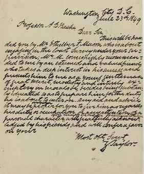 """TAYLOR, Zachary (1784-1850), President . Autograph letter signed (""""Z"""