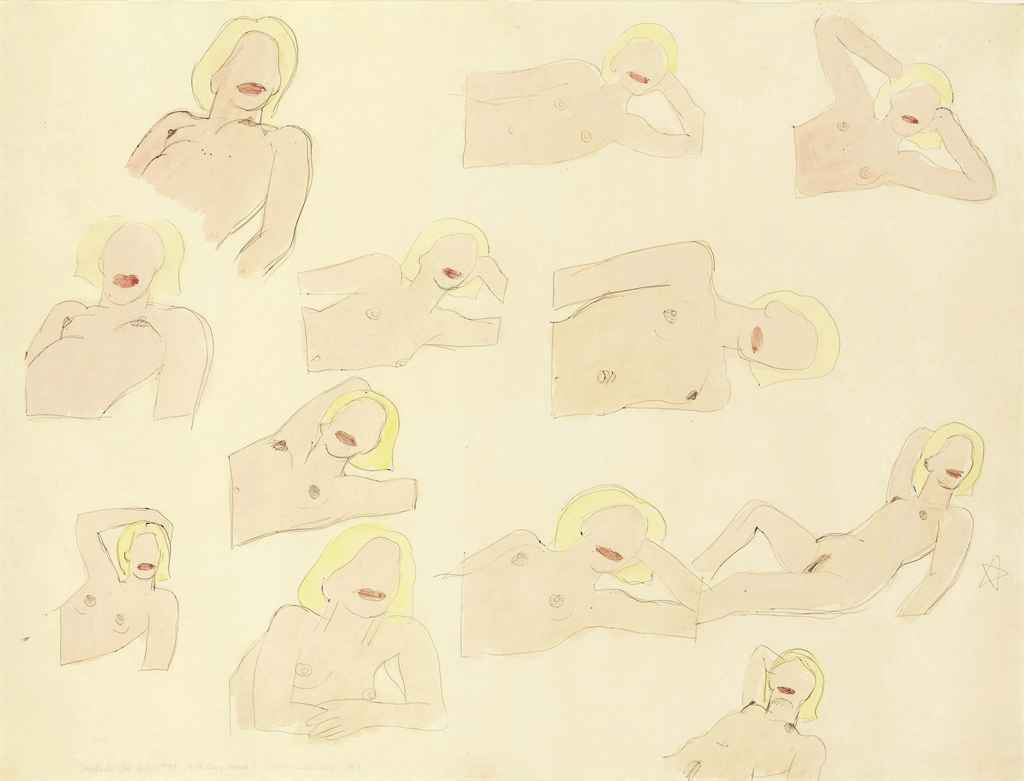 TOM WESSELMANN Study for Great American Nude #57