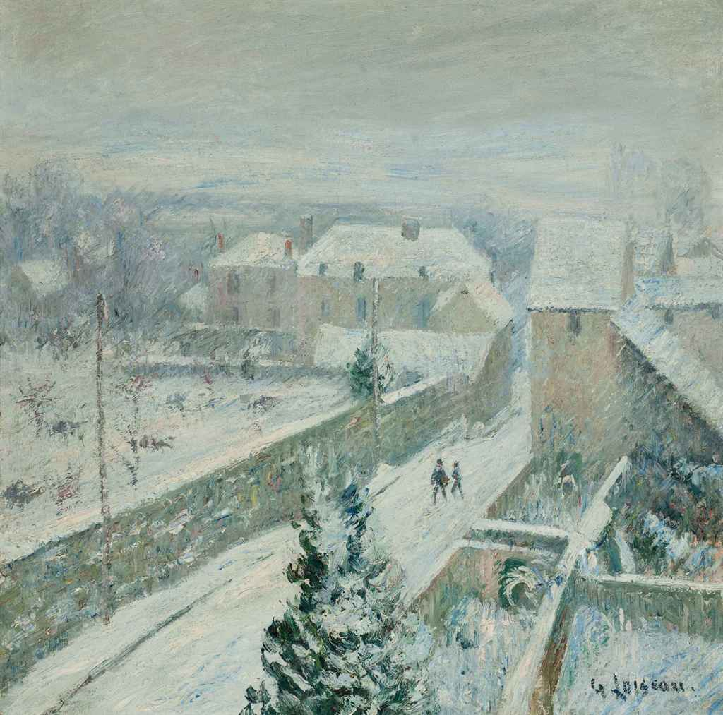 gustave loiseau 1865 1935 la neige triel sur seine. Black Bedroom Furniture Sets. Home Design Ideas