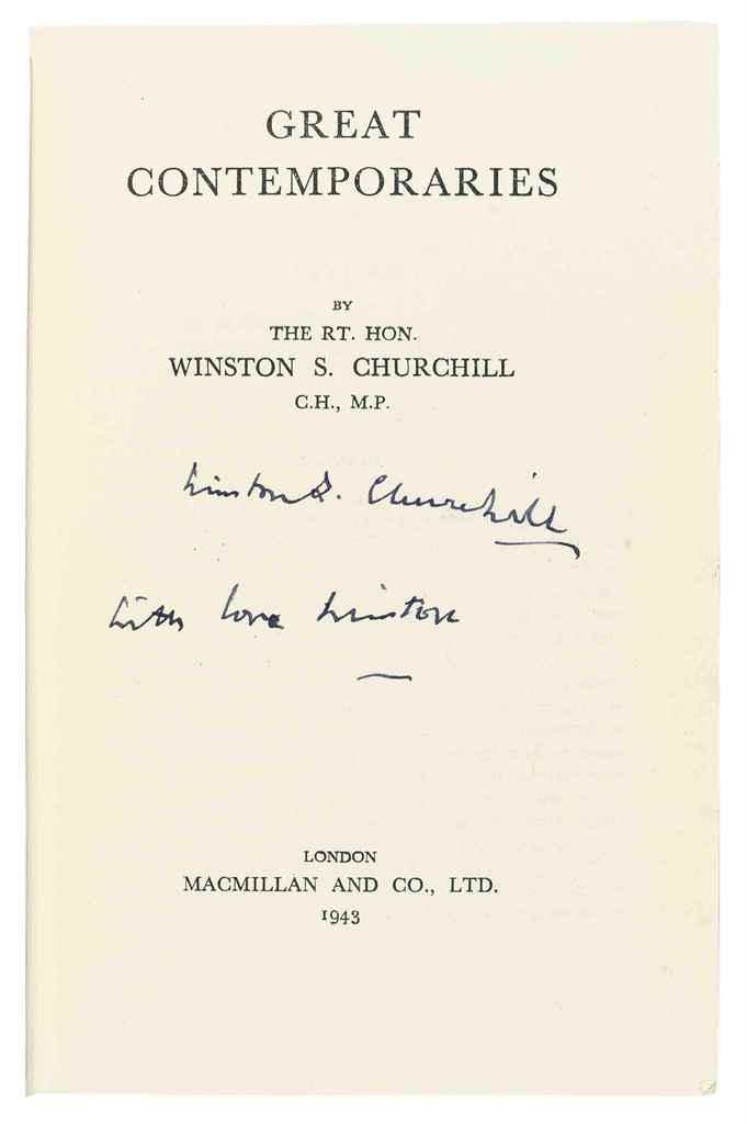 CHURCHILL, Winston S (1874-1965) Great Contemporaries London...